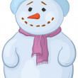 Snowmens boy — Stock Photo