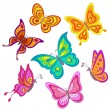 Stock Vector: Set butterflies