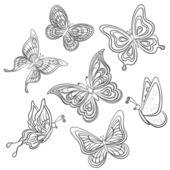 Бабочка, контуры — Cтоковый вектор