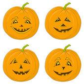 Pumpkin Jack O Lantern, set — Stock Photo