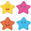 Smilies stars - Stock Photo