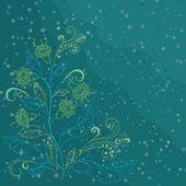 花の輪郭との背景 — ストック写真