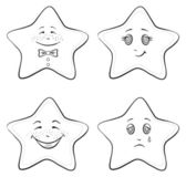 Smilies stars, contours — Stock Photo