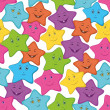 Smilies stars - Stock Vector