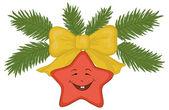 Estrella de navidad — Vector de stock