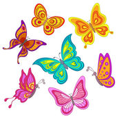 Set butterflies — Stock Photo