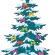 Christmas tree with ornaments — Stockfoto