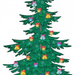 Christmas tree with ornaments — Stock Photo #7498551