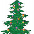 Stock Photo: Christmas tree with ornaments