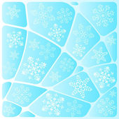 Background mosaic with snowflakes — Stock Vector