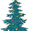 Christmas tree with ornaments — Foto Stock