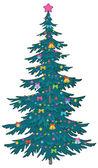 Julgran med ornament — Stockfoto