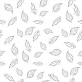 Background with leaves contours — Stock Vector
