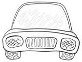 Car, contours — Stock Vector