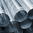 Steel tubes background — Stock Photo #6967656