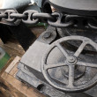 Stock Photo: Anchor winch with chain