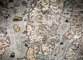 Ancient map fragment — Stockfoto