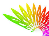 Abstract background with colorful wing-shaped geometric structure — Stock Photo