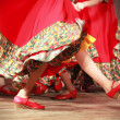 Fast Russian folk dance fragment - Stock Photo