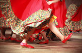 Fast Russian folk dance fragment — Stock Photo
