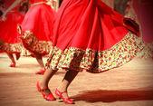 Fast Russian folk dance fragment — Stock Photo