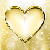 Golden heart — Stock Vector