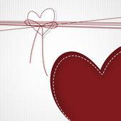 Bílé srdce, červené srdce — Stock vektor