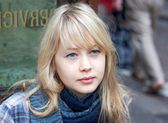 Melancholic Finnish young woman — Stock Photo