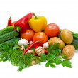 Royalty-Free Stock Photo: Mixed vegetables on a white background