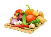 Légumes sur un fond blanc — Photo