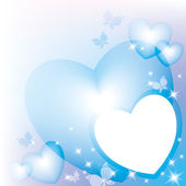 Blue hearts — Stock Vector