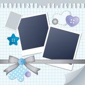 Blue frame for photos — Stock Vector