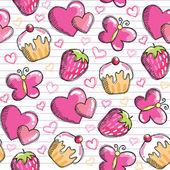 ピンクのシームレスなパターン — ストックベクタ