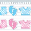 Royalty-Free Stock Vector Image: Baby stickers