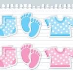 Baby stickers — Stock Vector