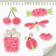 Royalty-Free Stock Vector Image: Cute pink stickers