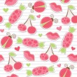 Cute pink seamless pattern — Stock Vector
