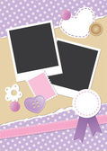 Vintage frame for photos — Stock Vector