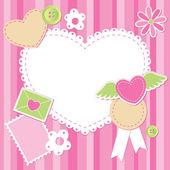 かわいいピンクのスクラップ セット — ストックベクタ