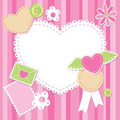Carino rosa rottami insieme — Vettoriale Stock
