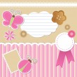 Set of scrapbook elements - Stock Vector