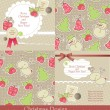 Christmas vintage set — Stock Vector #7302066