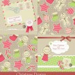 Christmas vintage set — Stock Vector