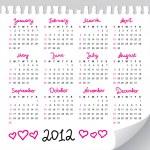 Calendar 2012 — Stock Vector