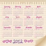 Calendar 2012 — Stock Vector #7316007