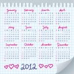 Calendar 2012 — Stock Vector #7316008