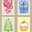 Postage stamps — Vector de stock #7316051
