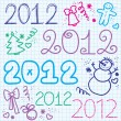 2012 year — Stock Vector