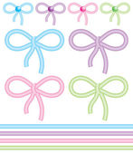 Cute bows — Stock Vector