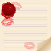 Background with kisses — Vector de stock